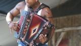 Dwayne Dopsie onstage at Jazz Fest 2011 [Photo by Bill Sasser]