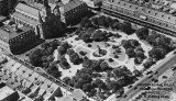 Aerial shot of Jackson Square in 1938