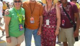 WWOZ Engineers (and wives) enjoy Jazz Fest