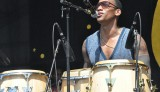 Pedrito Martinez at Jazz Fest. Photo by Kichea S. Burt.