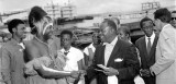 Louis Armstrong arrives in Leopoldville, Congo
