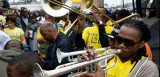 TBC Brass Band at the C.T.C. Steppers Second Line.
