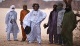 Group shot of the band Tinariwen.