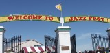 Welcome to Jazz Fest sign