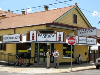 Parkway Bakery for po-boys and lunchtime parade of New Orleans characters!
