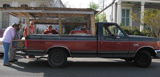 Okra's truck before it got a new paint job from Dr. Bob