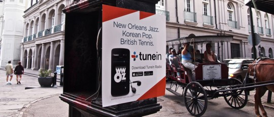 TuneIn Ad in the French Quarter.