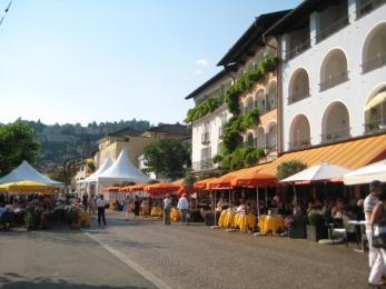 long shot of a street in Ascona