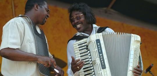 Buckwheat Zydeco at 2004 Jazz Fest