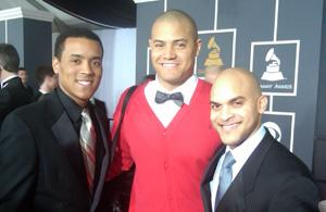 Bivian Sonny Lee, Ron Markham, and Irvin Mayfield at the Grammys (photo by Laura Tennyson)