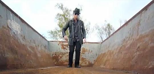 Clint Maedgen in empty dumpster