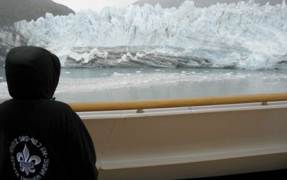 OZ raincoat at the glacier