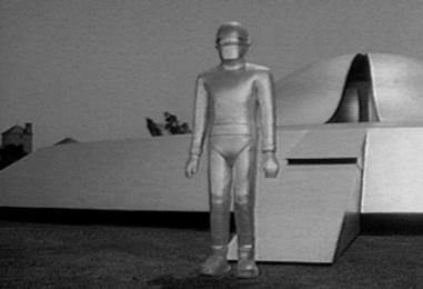 Gort outside his chopped saucer