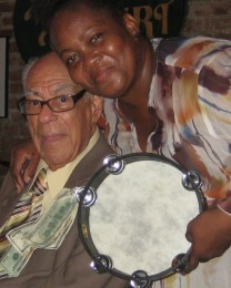 Lionel Ferbos & Lady Tambourine at 100th Birthday Party