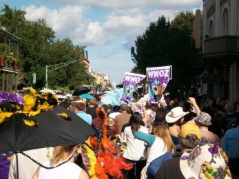 WWOZ 30th Birthday Second Line. Photo by Danielle Small.