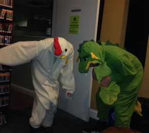 A Chicken and a Dragon Go to a Radio Station