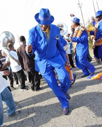 A West Bank Stepper represents for the 22nd Annual Second Line