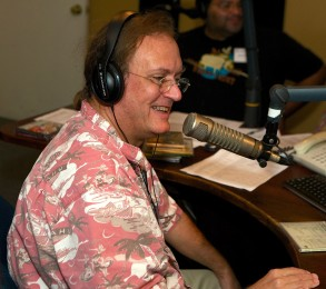 Dan Meyer at the WWOZ microphone