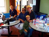 Big D with WWOZ volunteers Betty Jane Schlater and Melissa and Matt DeOrazio.