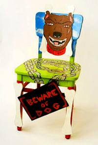 photo of chair painted by YA/YA artist