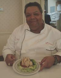 Executive Chef Michael Regua shows Shrimp Regua