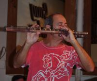 Carlos Malta concentrates while playing the alto flute.