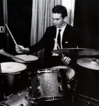 Sandy Nelson sitting at drums