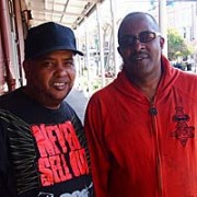 Perry Franklin with DJ Action Jackson.