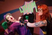 Xena Zeit-Geist as Batman, Baron Reinhardt as Joker, Photo by Sergio Lobo-Navia