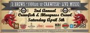 Crawfish & Bluegrass Crawl 3 Brews 1000lbs of Crawfish Live Music
