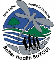 Logo with dragonfly and words Better Health BaYOU