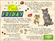 """Think DOG it's Friday"" flyer"