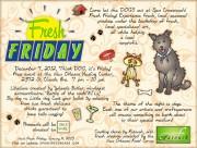 """Think DOG it's Friday"" flyer"