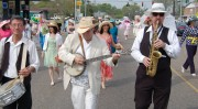 Eddie Veatch trio leading the Ponchatoula Easter Bonnet Stroll