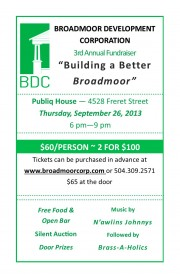 Broadmoor Development Corporation's Annual Fundraiser