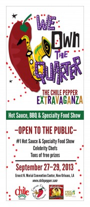 chile pepper extravaganza hot sauce bbq new orleans convention center