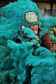 Big Chief Brian Nelson of the Guardians of the Flame at MNOP