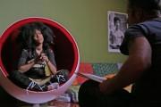 Erykah Badu being interviewed for 'Before the Music Dies'