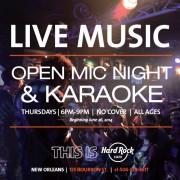 Live Music! Open Mic!
