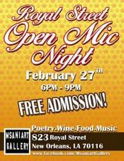 MSANIART GALLERY PRESENT ROYAL OPEN MIC