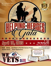Helping Heroes Fund Raiser Flyer