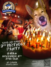 Save-An-Angel Dog Rescue 3rd  Anniversary Party at D.B.A. November 8th