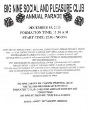 Big Nine Second Line Parade Route 2013