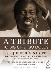 Bo Dollis, tribute, Mardi Gras Indian, St. Joseph's Night