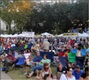Crowd at Crescent City Blues & BBQ Fest.