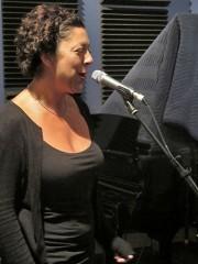 Ingrid Lucia at WWOZ. Photo by Jennifer Leslie.
