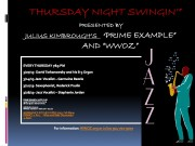 Download the Thursday Night Swingin' March Schedule