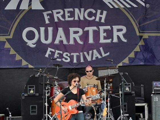 Mia Borders at French Quarter Fest 2015