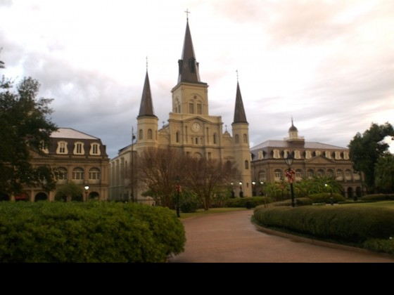 St. Louis Cathedral in December