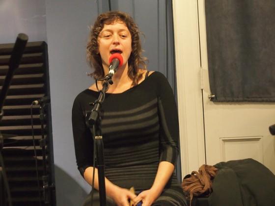 Erika Lewis of Tuba Skinny at WWOZ in 2014